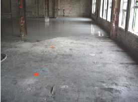 Gypsum Subfloors leveled pitted and trenched concrete floors